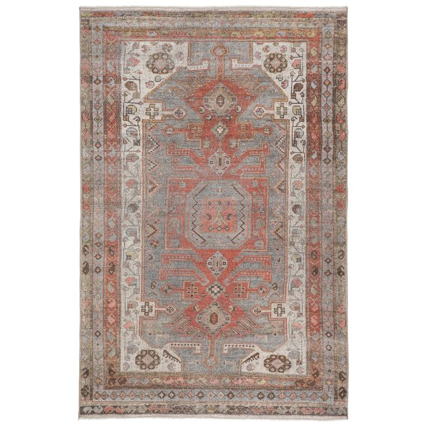 Grey, Orange (BOH-10) Vintage / Overdyed Area Rug