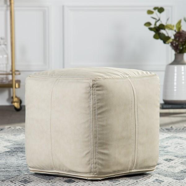 White (UNK-12) Bohemian poufs