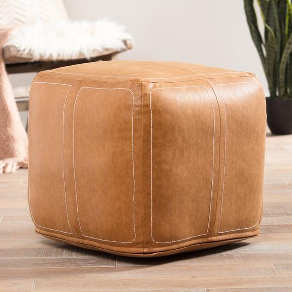 Tan (UNK-01) Bohemian poufs