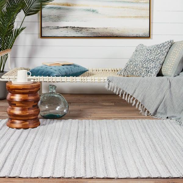 Grey, Cream (CSL-01) Contemporary / Modern Area-Rugs