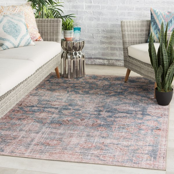 Blue, Light Pink (CHT-07) Vintage / Overdyed Area-Rugs