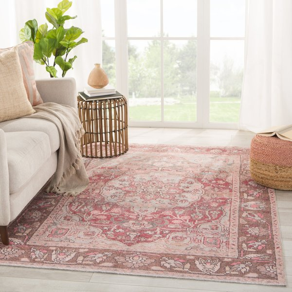 Pink, Blue (KND-03) Bohemian Area-Rugs