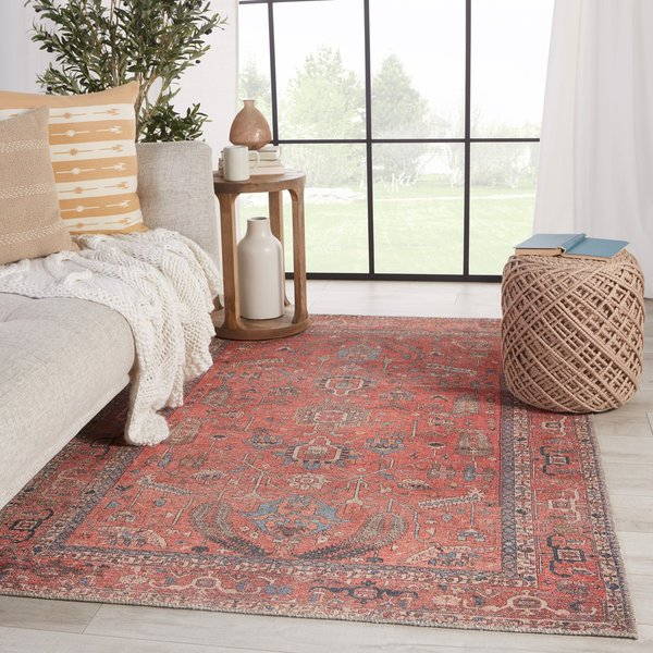 Red, Blue (KND-08) Traditional / Oriental Area Rug