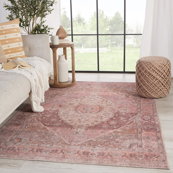 Pink, Burgundy (KND-13) Bohemian Area-Rugs