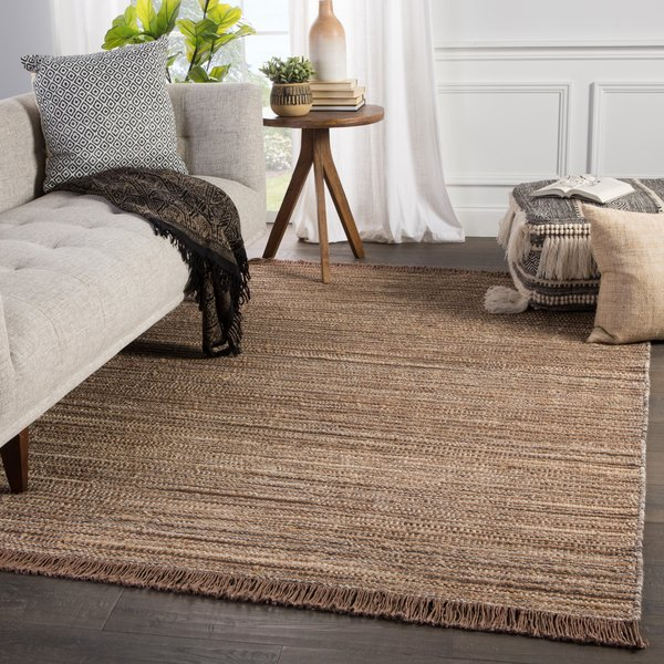 Taupe, Brown (MOS-03) Natural Fiber Area-Rugs