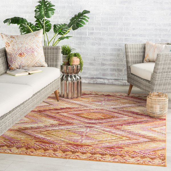 Orange, Gold (RHN-06) Bohemian Area Rug