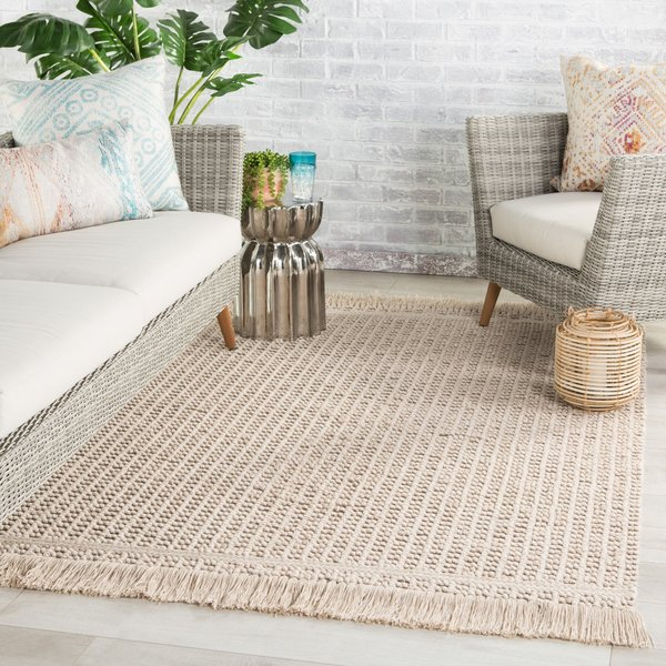 Beige, Taupe (VIL-01) Contemporary / Modern Area Rug