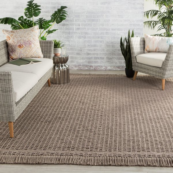 Taupe (VIL-02) Contemporary / Modern Area Rug