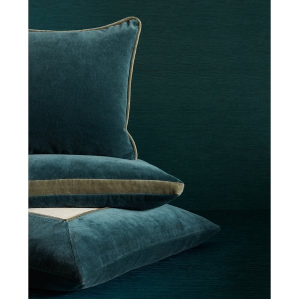 Teal, Grey (EMS-02) Solid pillow