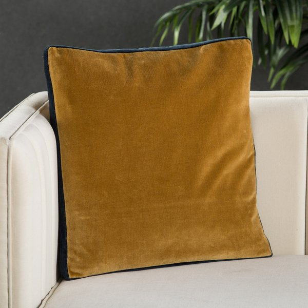Gold, Navy (EMS-05) Solid pillow