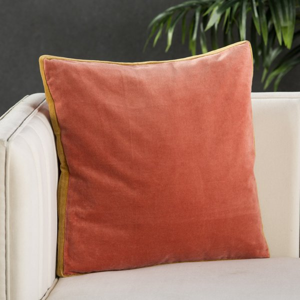 Pink, Gold (EMS-14) Solid pillow