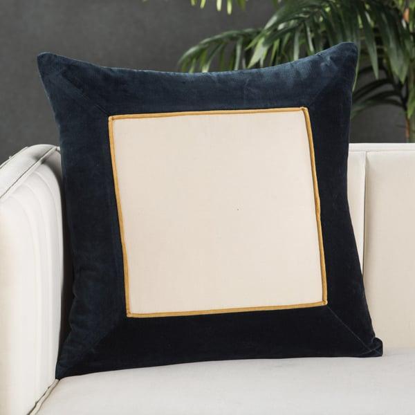 Navy, Cream (EMS-04) Contemporary / Modern pillow
