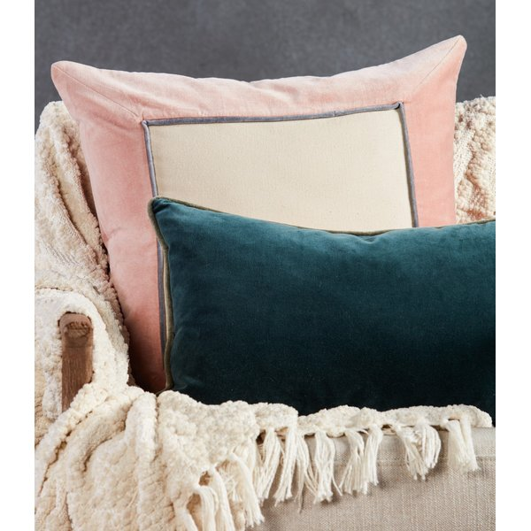 Teal, Cream (EMS-03) Solid pillow