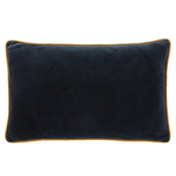 Navy, Cream (EMS-06) Solid Pillow