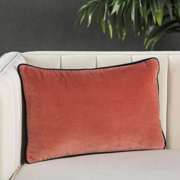 Pink, Cream (EMS-12) Solid pillow