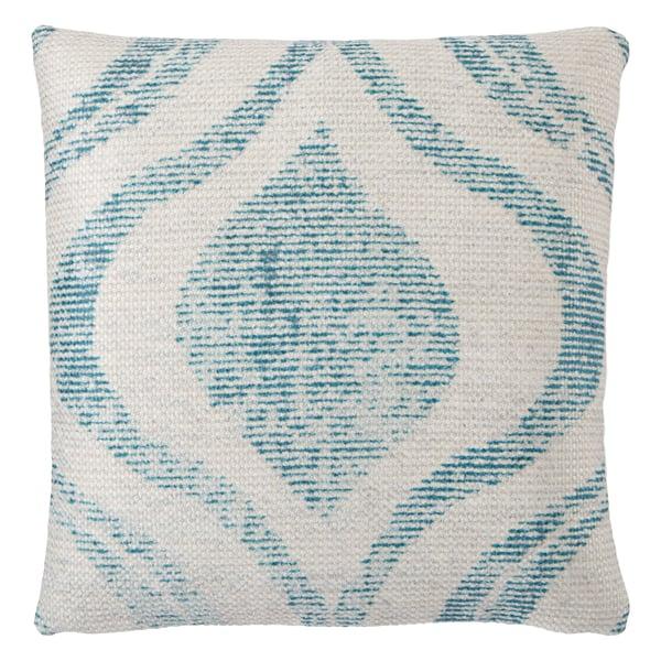 Teal, Cream (GRN-07) Bohemian pillow