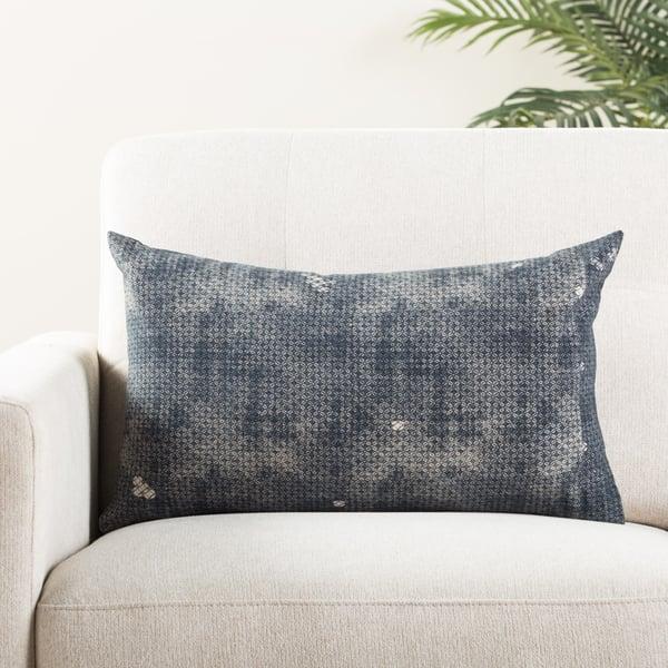 Indigo, Gray (MCO-09) Vintage / Overdyed pillow