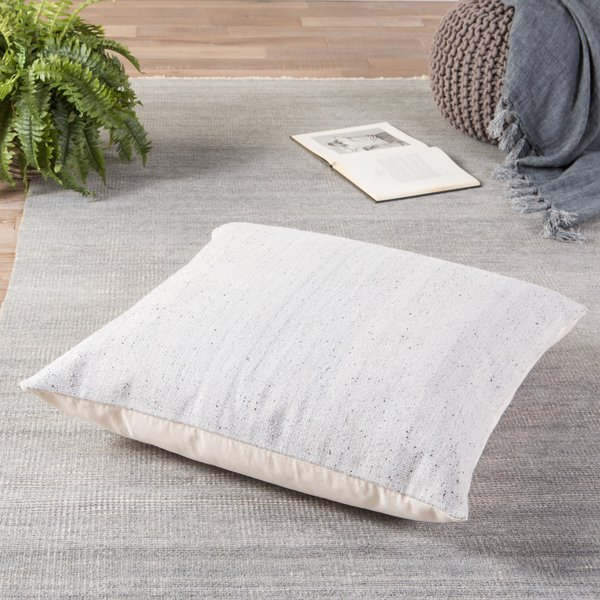 Light Grey, White (MCO-07) Solid Pillow