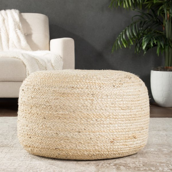White (SAA-15) Solid poufs