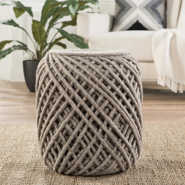 Grey (SCP-02) Solid Poufs