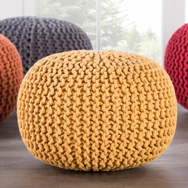 Yellow (STP-01) Solid poufs