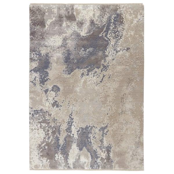 Grey, Beige (DLM-02) Contemporary / Modern Area Rug