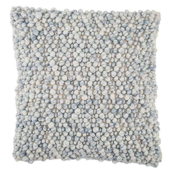 Light Blue, Ivory (AGO-05) Contemporary / Modern Pillow