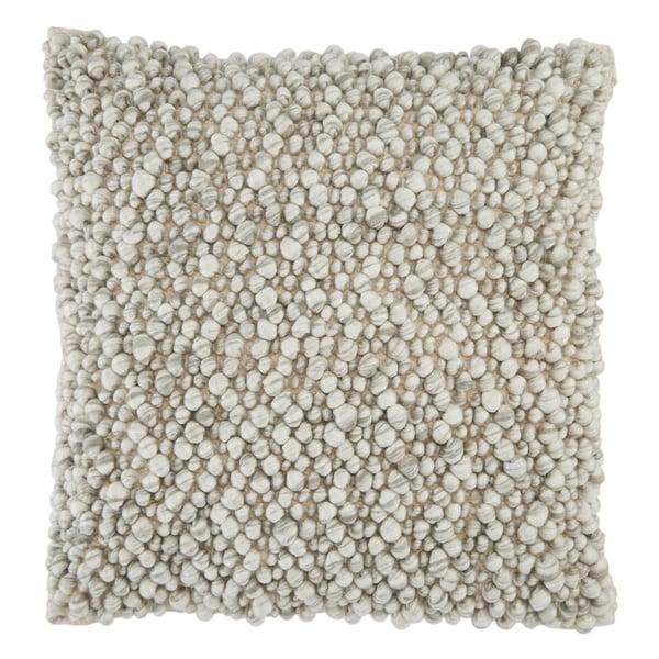 Light Grey, Ivory (AGO-06) Contemporary / Modern Pillow