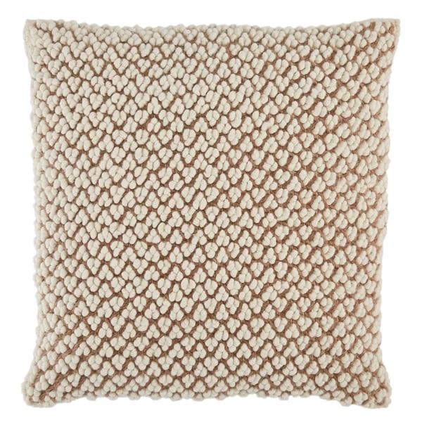 Tan, Ivory (AGO-02) Contemporary / Modern Pillow