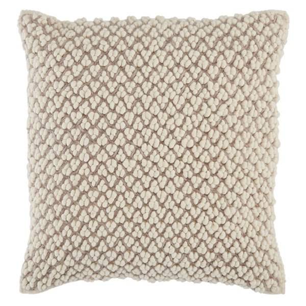 Light Taupe, Ivory (AGO-03) Contemporary / Modern Pillow