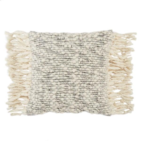 Ivory, Light Grey (AGO-04) Contemporary / Modern Pillow