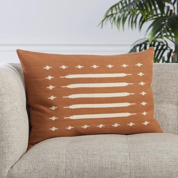 Terracotta, Cream (EMN-07) Southwestern pillow