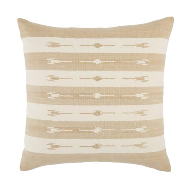 Taupe, Cream (EMN-02) Southwestern Pillow
