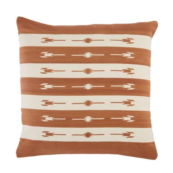Terracotta, Cream (EMN-04) Southwestern Pillow