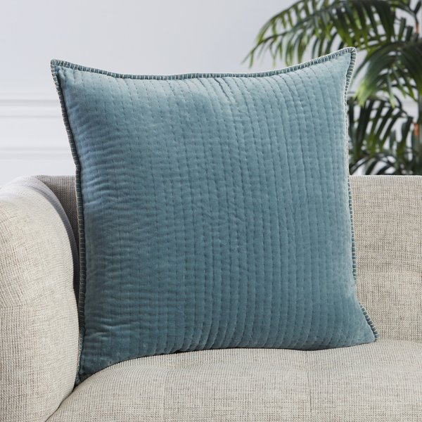 Blue, Beige (LXG-10) Solid pillow