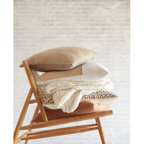 Taupe, Cream (LXG-05) Contemporary / Modern pillow