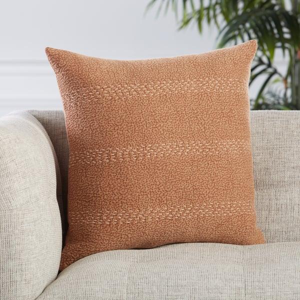 Terracotta, Beige (LXG-06) Contemporary / Modern pillow