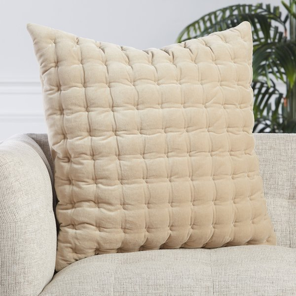 Beige, White (LXG-03) Solid pillow