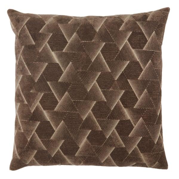 Dark Taupe, Silver (NOU-01) Contemporary / Modern pillow
