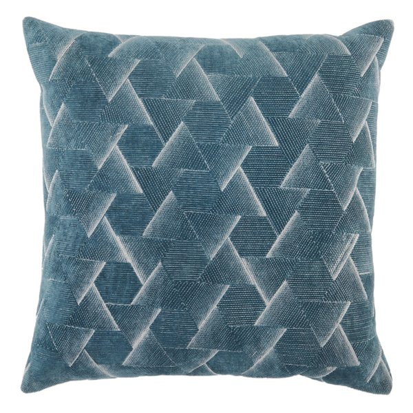 Blue, Silver (NOU-03) Contemporary / Modern pillow