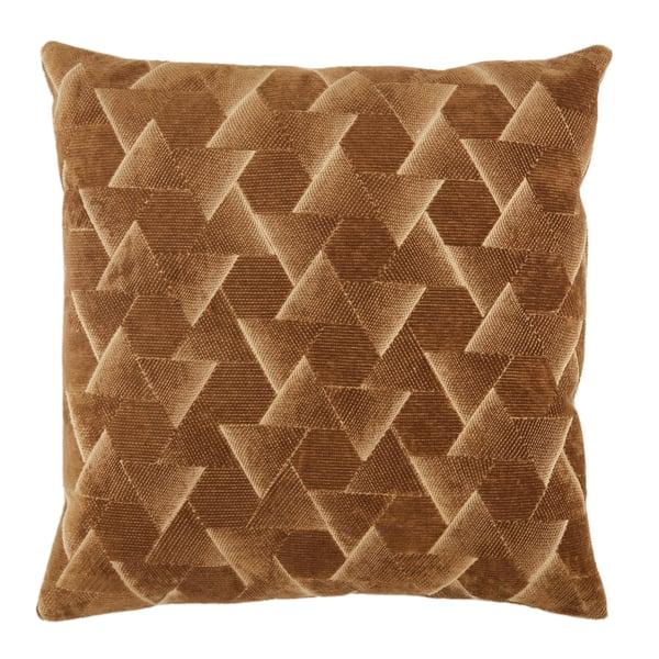 Brown, Silver (NOU-05) Contemporary / Modern pillow