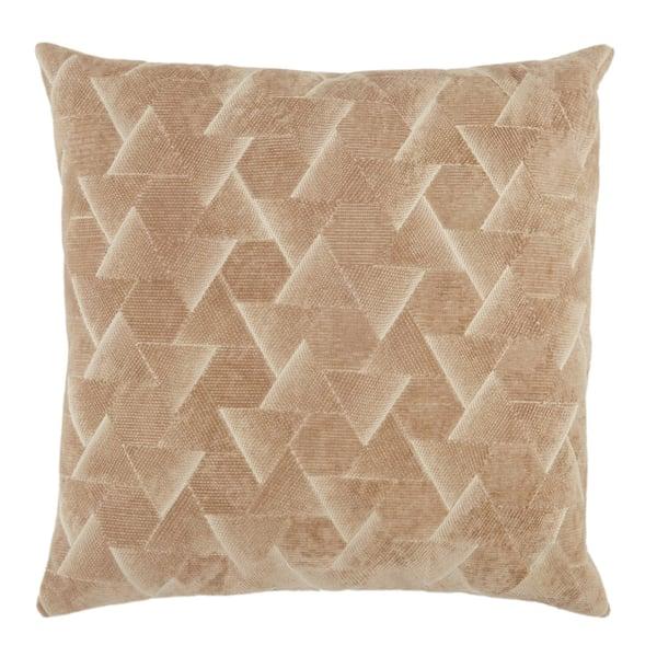 Beige, Silver (NOU-06) Contemporary / Modern pillow