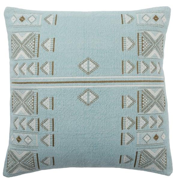 Light Blue, Brown (PUB-12) Bohemian pillow