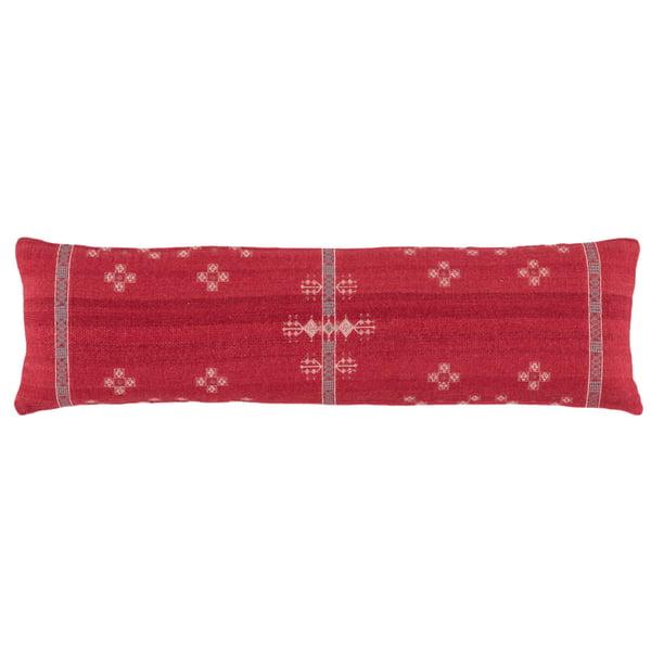 Red, Grey (PUB-04) Bohemian Pillow