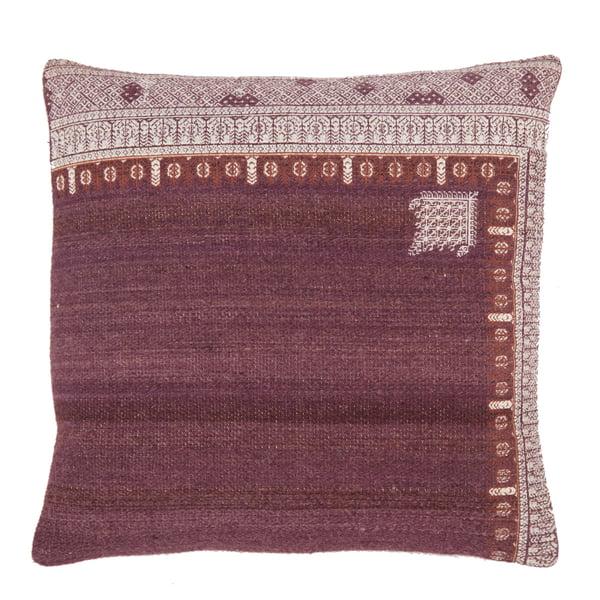 Purple, White (PUB-07) Bohemian Pillow