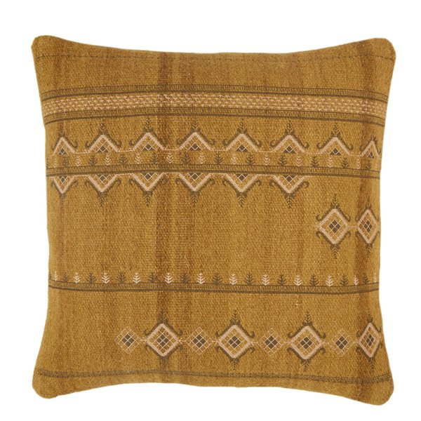 Gold, Dark Grey (PUB-08) Bohemian pillow