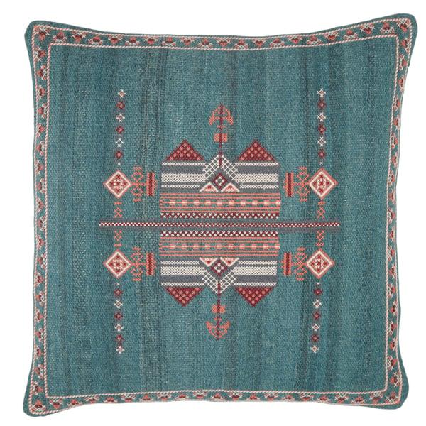 Teal, Terracotta (PUB-10) Bohemian pillow