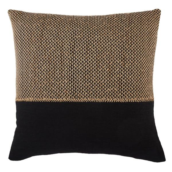 Light Tan, Black (TGA-11) Contemporary / Modern pillow