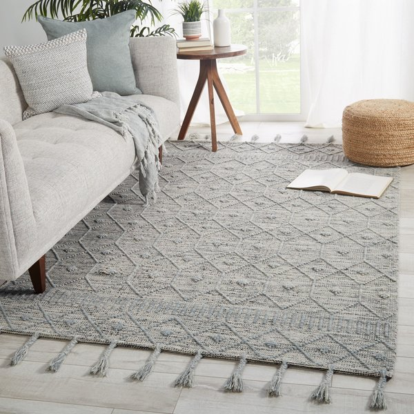 Light Blue, Cream (CAX-01) Contemporary / Modern Area Rug