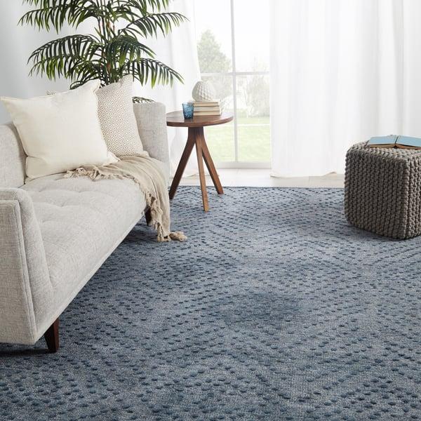 Blue, Gray (COB-01) Contemporary / Modern Area Rug
